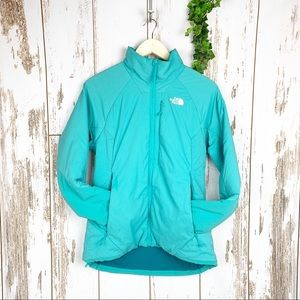 The North Face Teal Blue Down Puffy Zip Jacket EUC